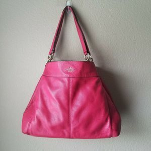 COACH Red Pebbled Leather Lexi F57545 Bag Purse